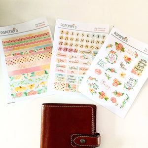 May Flowers Planner Stickers