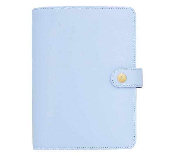 LEATHER PERSONAL PLANNER MEDIUM: BLUE