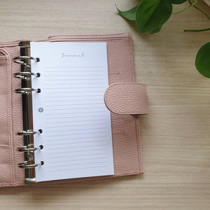 Journal Blush Planner Refill for Kikki.K Kate Spade Filofax and other Planners