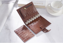 Load image into Gallery viewer, Moterm A7 Croc Red Brown Notebook Leather Planner