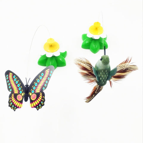Image of Electric Rotating Colorful Butterfly Cat Toys