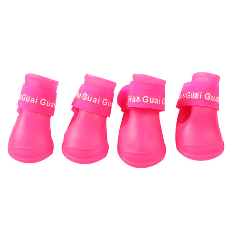 Cute Snow Waterproof Protective Dog Boots 4 pcs/set