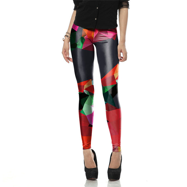Ray 3D Print Fluorescence Leggings