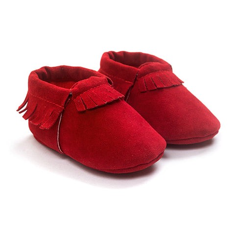 Image of Suede Leather Newborn Soft Shoes