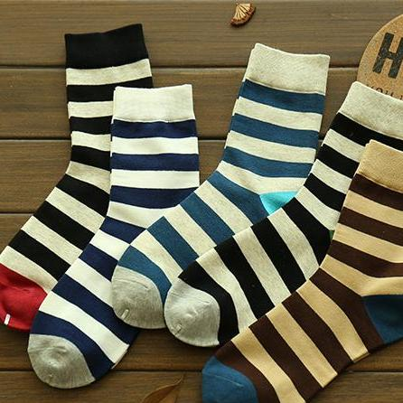 Image of 5Pc/Set Cotton Stylish Socks Men