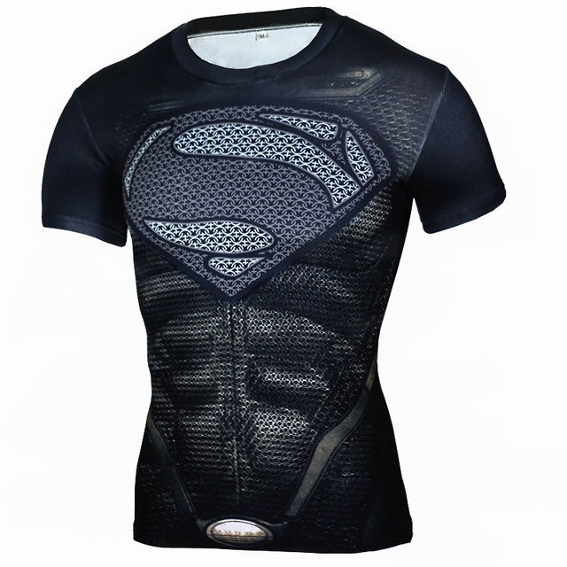 Superhero 3D Crossfit T Shirt Men