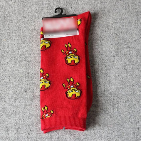 Cotton Funny Comics Breathable Men Socks