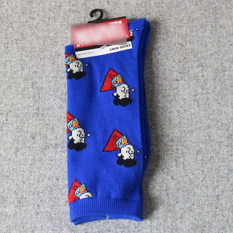 Image of Cotton Funny Comics Breathable Men Socks
