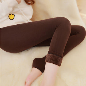 Thick Velvet Warm Seamless Cashmere Leggings