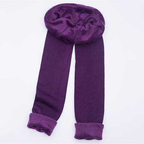 Image of Thick Velvet Warm Seamless Cashmere Leggings