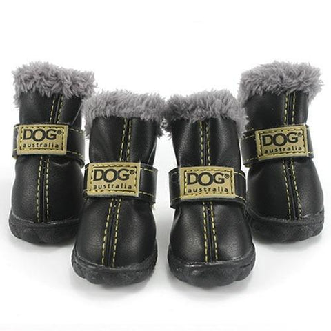 Luxury Leather Dog Boots
