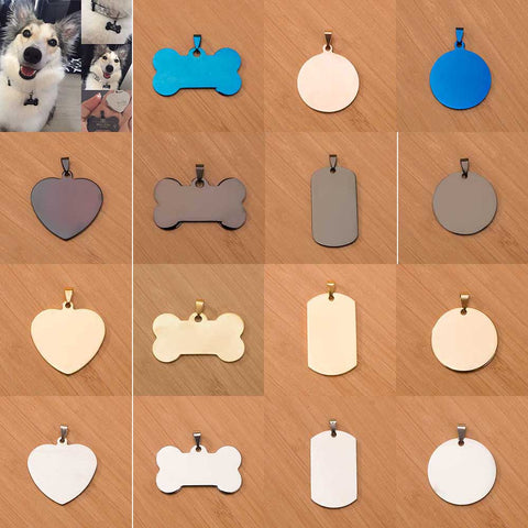 Image of Free engraving Pet collar / Dog Tags Collars Stainless Steel