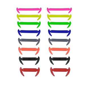 16pcs/lot Elastic Silicone No Tie Shoelaces