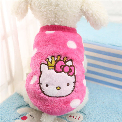 Cartoon Printed Fleece Dog Vest