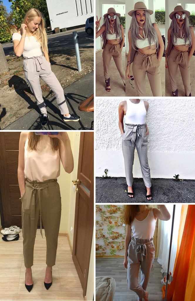 Stylish High Waist Pants