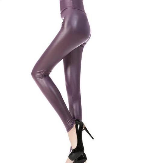 Sexy Skinny Faux Leather High Waist Leggings