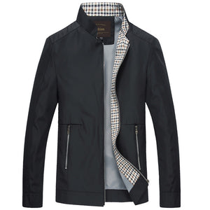 Men Slim Fitted Mandarin Jacket