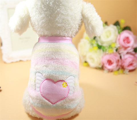 Image of Cartoon Printed Fleece Dog Vest