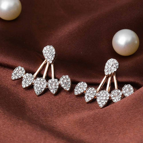 Image of Crystal Drop Stud Earrings