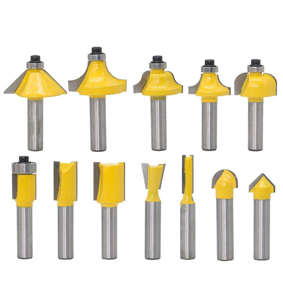 8mm Wood Cutter Router Bit Set (12pcs /Set)