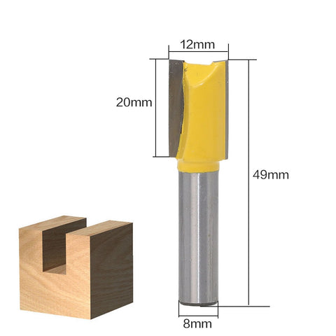 Image of 8mm Wood Cutter Router Bit Set (12pcs /Set)