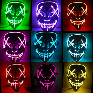 Glow In Dark LED Party Mask