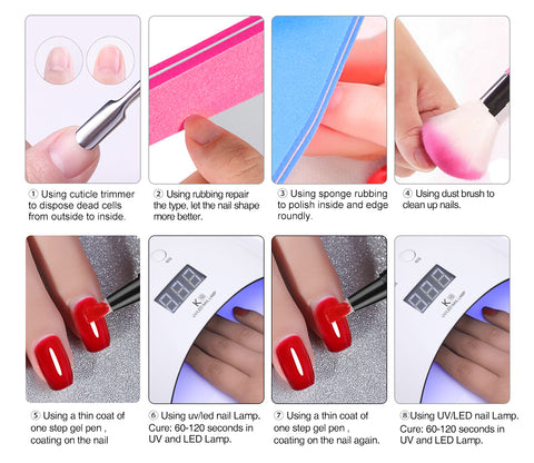 3 In 1 Nail Gel Polish Pen