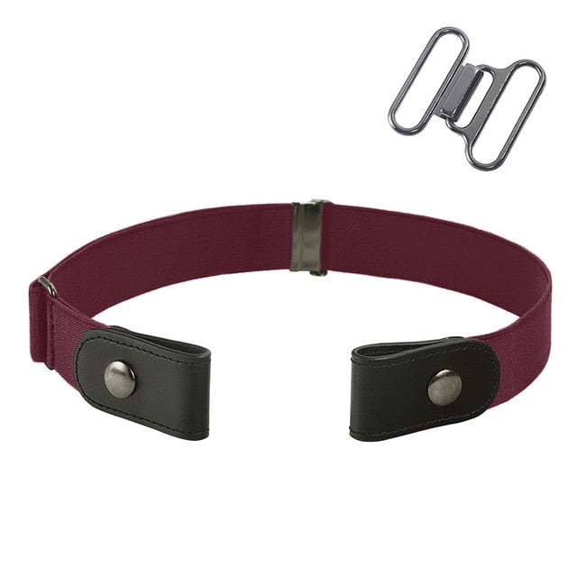 Unisex Buckle-Free Adjustable Elastic Stretch Belt