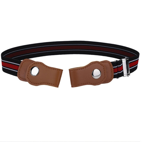 Image of Unisex Buckle-Free Adjustable Elastic Stretch Belt