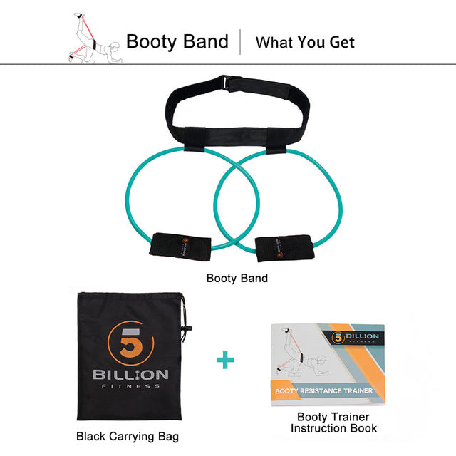 Fitness Women Booty Butt Resistance Band with Adjustable Waist Belt