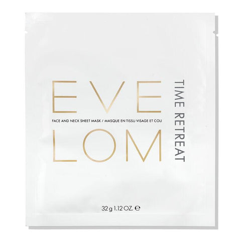 Eve Lom Time Retreat Face And Neck Sheet Mask - Mascarilla Anti edad Cara y Cuello 4u