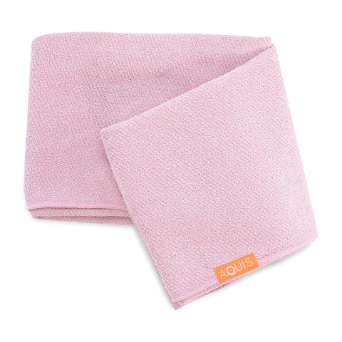 Aquis Hair Long Towel Desert Rose - Toalla para Secado y Cuidado de Cabello