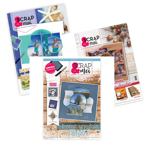 1 Year Scrap & Moi: GOLD Magazine subscription (French only)