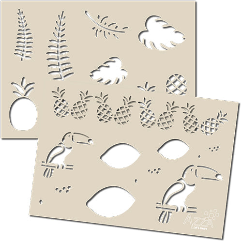 Decoration Stencil Duo: TROPICAL