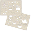 Decoration Stencil Duo:  THEME PARKS