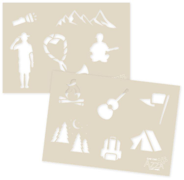 Decoration Stencil Duo: CAMPING
