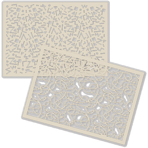 Texture Stencil Duo - ART AND CREATION