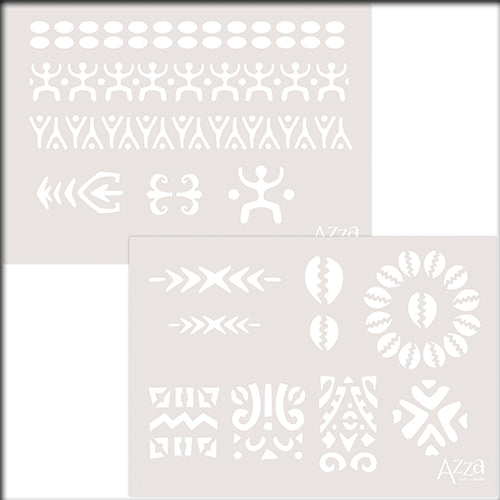 Decoration Stencil Duo: ETHNIC MOTIFS