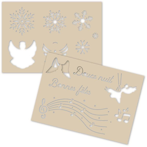 Decoration Stencil Duo: SILENT NIGHT