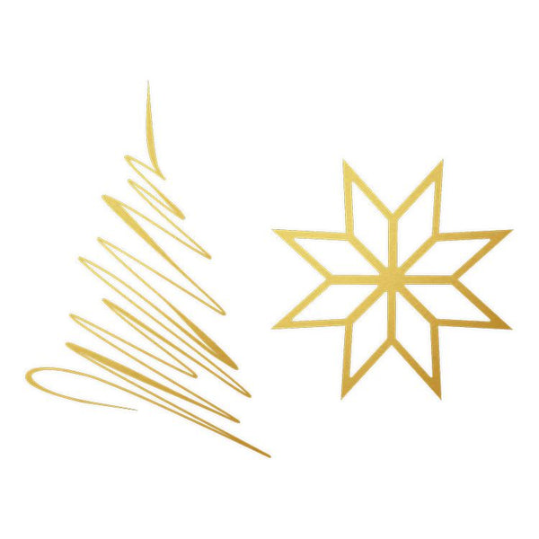 Foil Metal Stamp:  CHRISTMAS STAR
