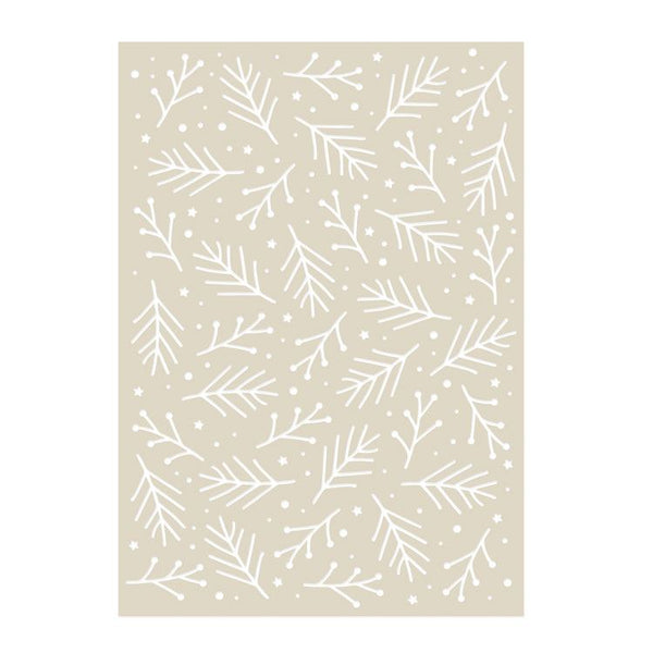 Texture Stencil:  CHRISTMAS BRANCHES (A5)
