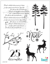 Stamp Set - Large:  CHRISTMAS AMBIANCE