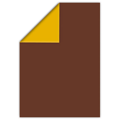 Paper: PRINTED PLAIN CHOCOLATE/MUSTARD