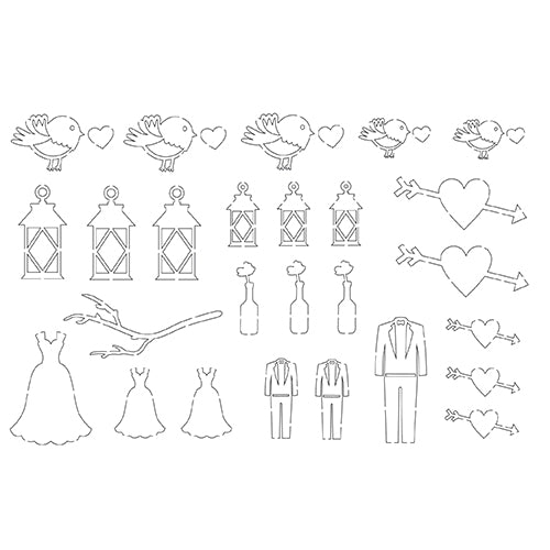 Silhouette Figure:  COUNTRY WEDDING