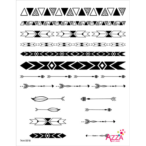 Stamp Set - Large:  TRIBAL INDIAN