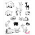 Stamp Set - Large:  FOREST ANIMALS