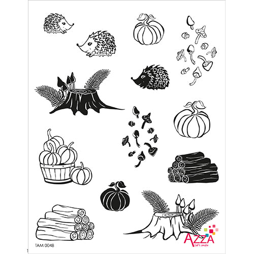 Stamp Set - Large:  AUTUMN PROMENADE