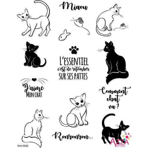 Stamp Set - Large:  I LOVE MY CAT