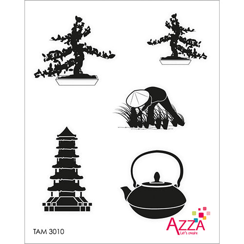 Stamp Set - Ruby:  ASIA