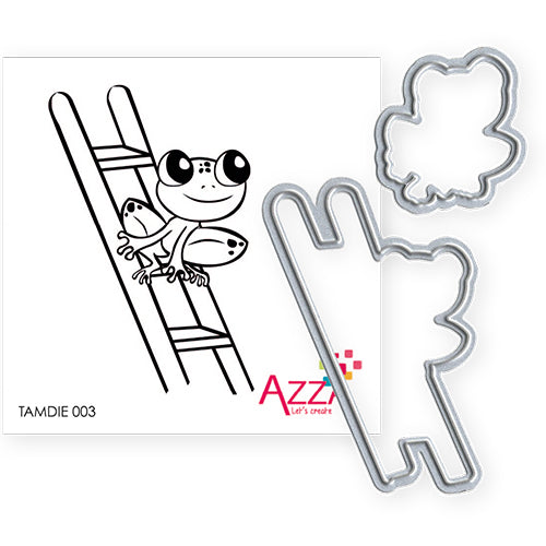 Stamp and Cutting Die Set: WEATHER FROG